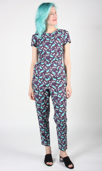 Auk Jumpsuit - Bird Forest