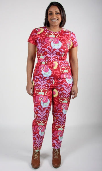 Auk Jumpsuit - Blacklight Orchid
