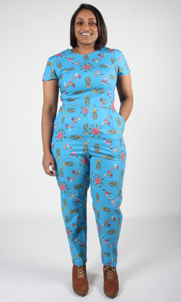 Auk Jumpsuit - Blue Pineapple Party