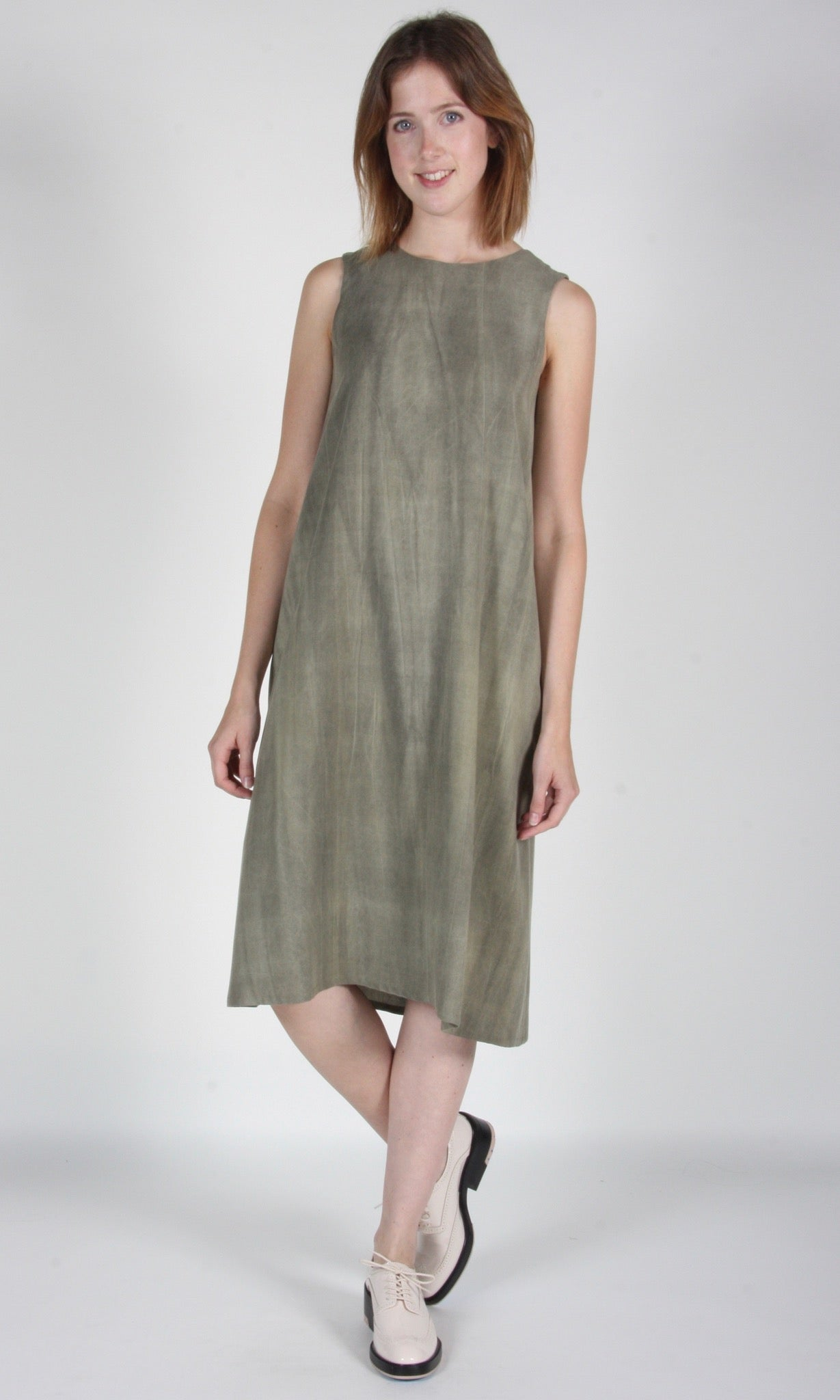 Blossomcrown Dress - Sand Washed Olive