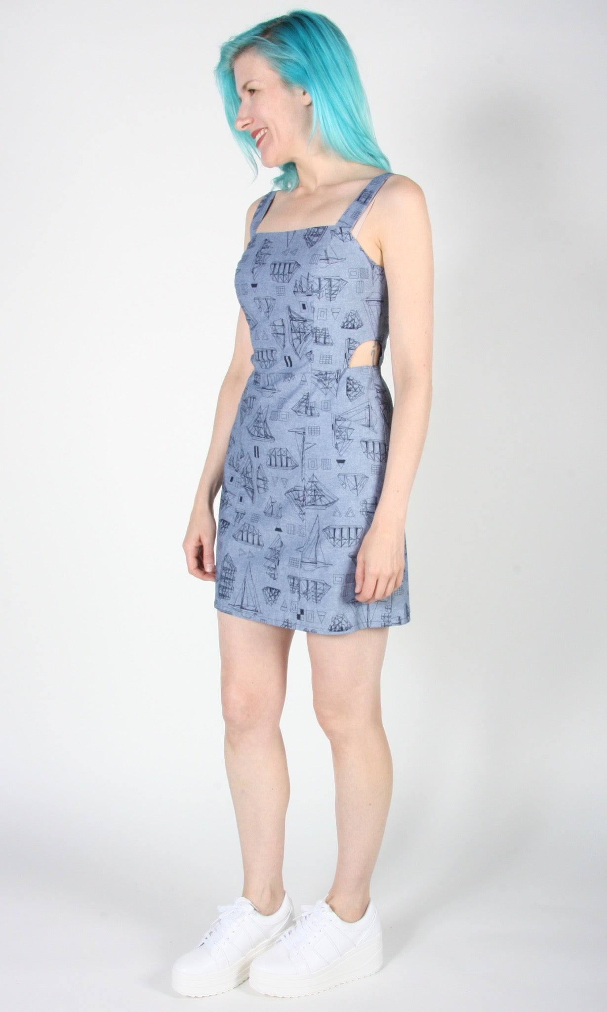 Bluebird Dress - Nautical Chambray