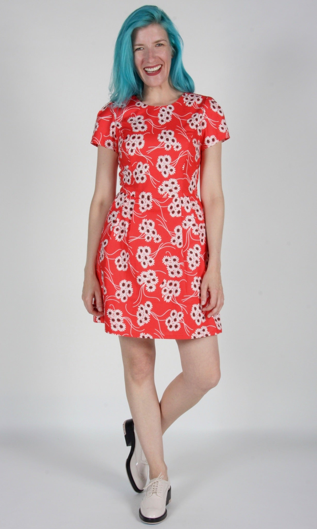 Bobolink Dress - Red Daisies