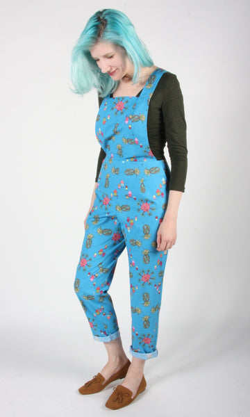 Bunting Overalls - Blue Pineapple Party
