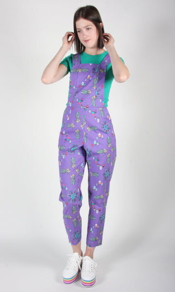 Bunting Overalls - Purple Pineapple Party