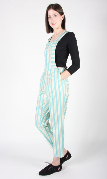 Bunting Overalls - Sea Stripe