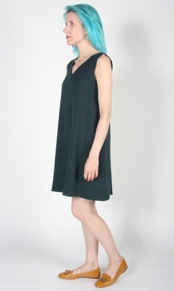 Cardinal Dress - Evergreen