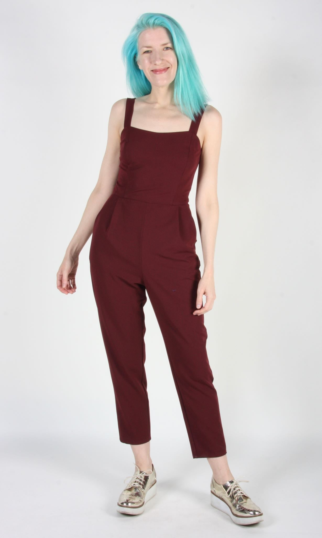 Crossbill Jumpsuit - Burgundy