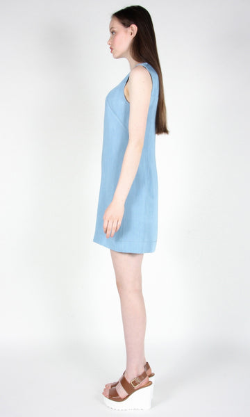 Crow Dress - Faded Denim