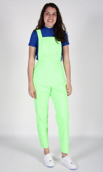 Currawong Overalls - Neon Lime