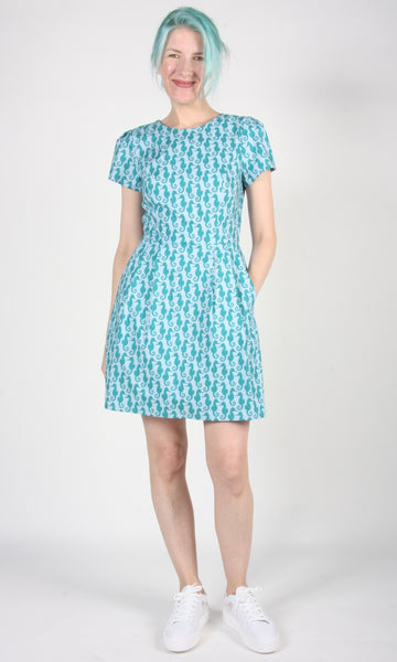 Engoulevent Dress - Seahorses