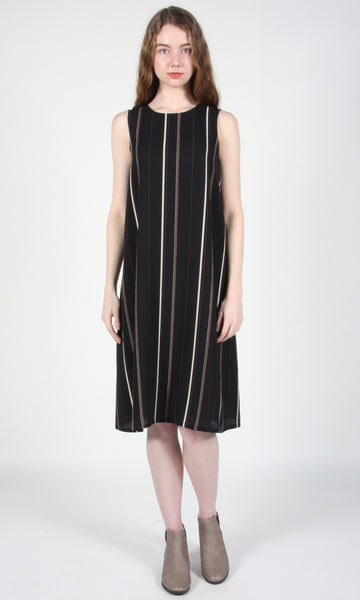 Fulmar Dress - Black Stripes