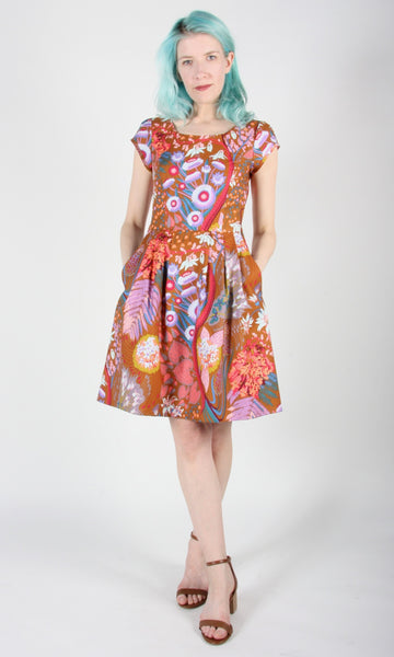 Gallinule Dress - Rust Garden