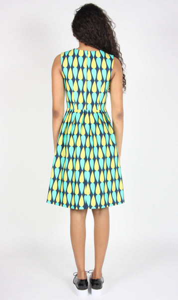 Gravateiro Dress- Navy/Green