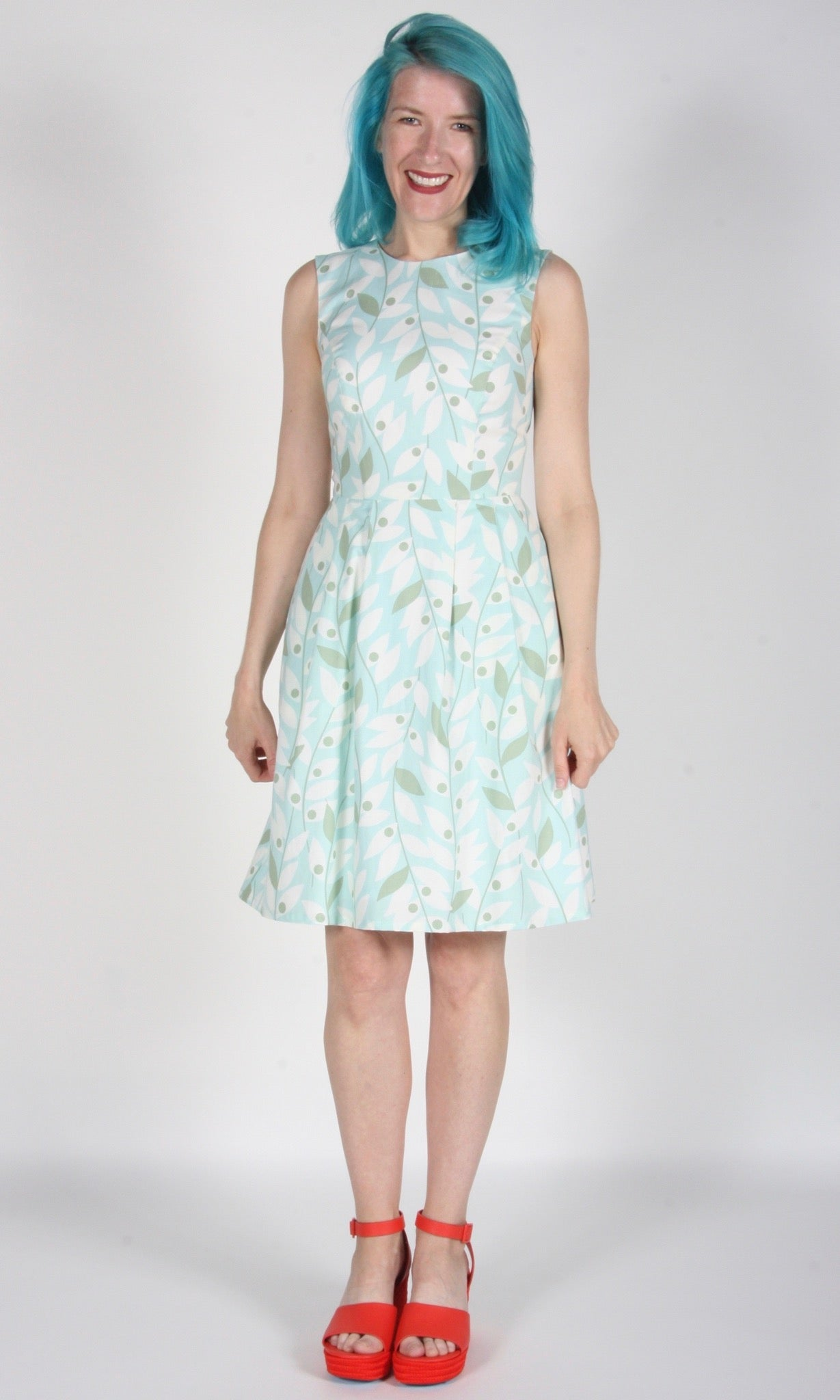 Greenshank Dress - Mint Khakiberry
