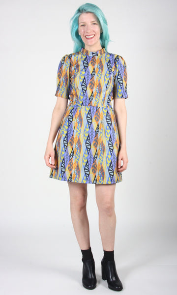 Guineafowl Dress - Oak Leaves