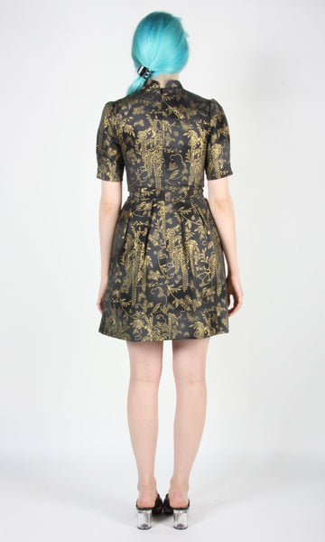 Guineafowl Dress - Golden Wisteria