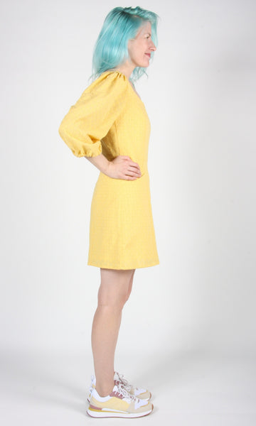Hummingbird Dress - Yellow