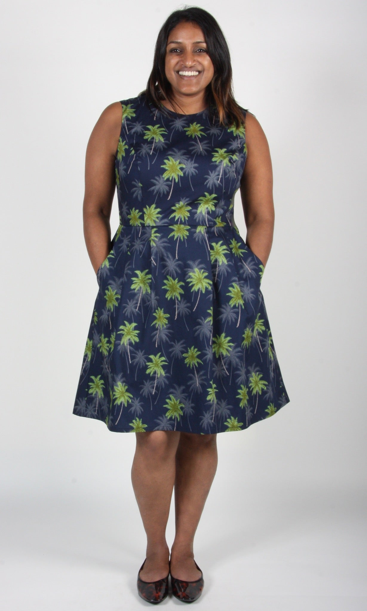 Peafowl Dress - Palms