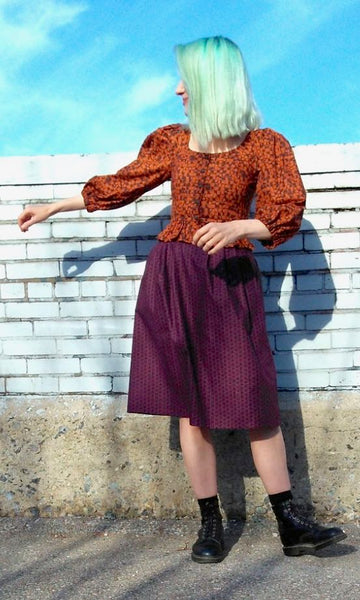 Tadorne Skirt - Shadow Plum