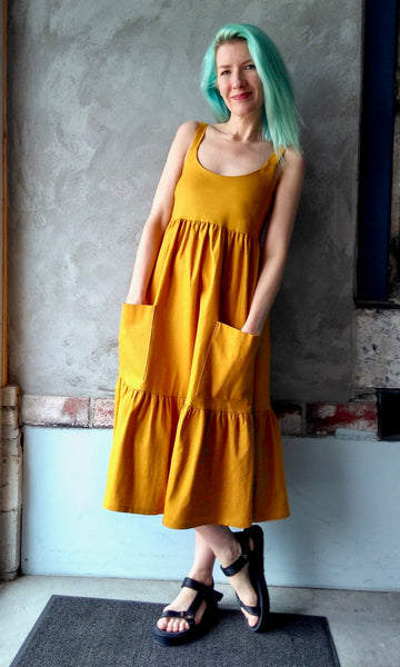 Bergeronette Dress - Saffron