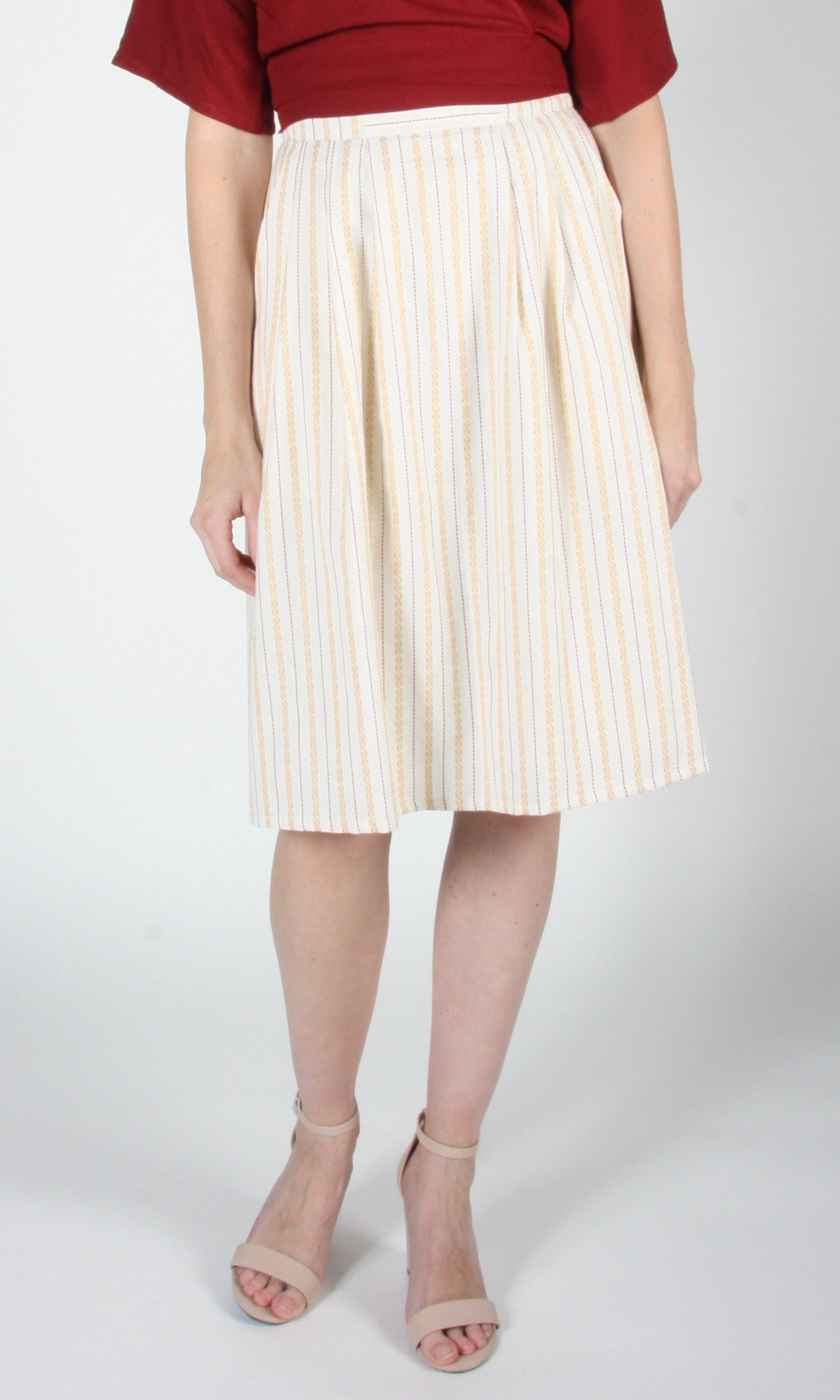 Macareux Skirt - Ivory Stripe