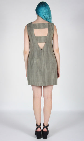 Longspur Dress - Sand Washed Olive