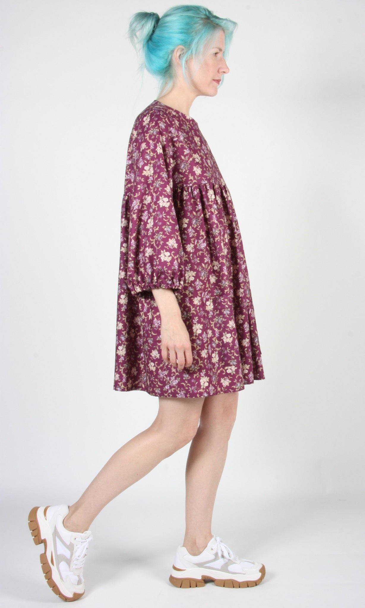 Martin Dress - Purple Posy