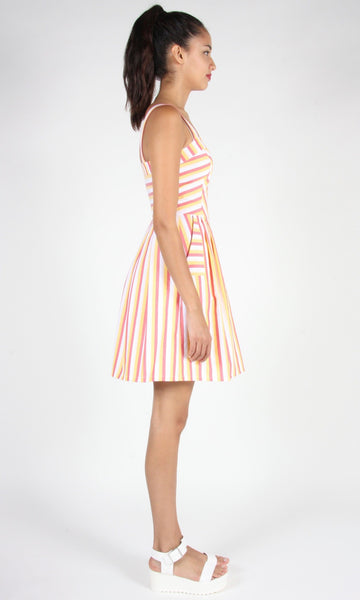 Minivet Dress - Red and Yellow Stripe