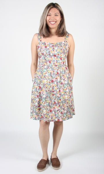 Oropendola Dress - Grey London Floral
