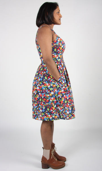 Oropendola Dress - Navy London Floral