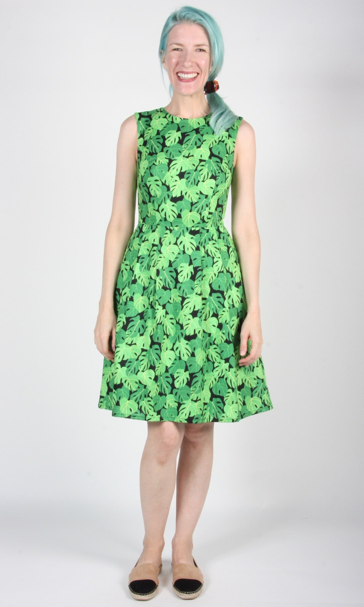 Peafowl Dress - Philodendron