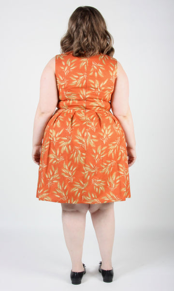 Peafowl Dress - Autumn Wheat