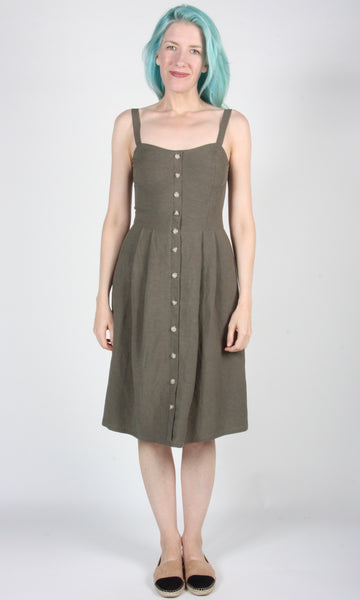 Pluvier Dress - Olive