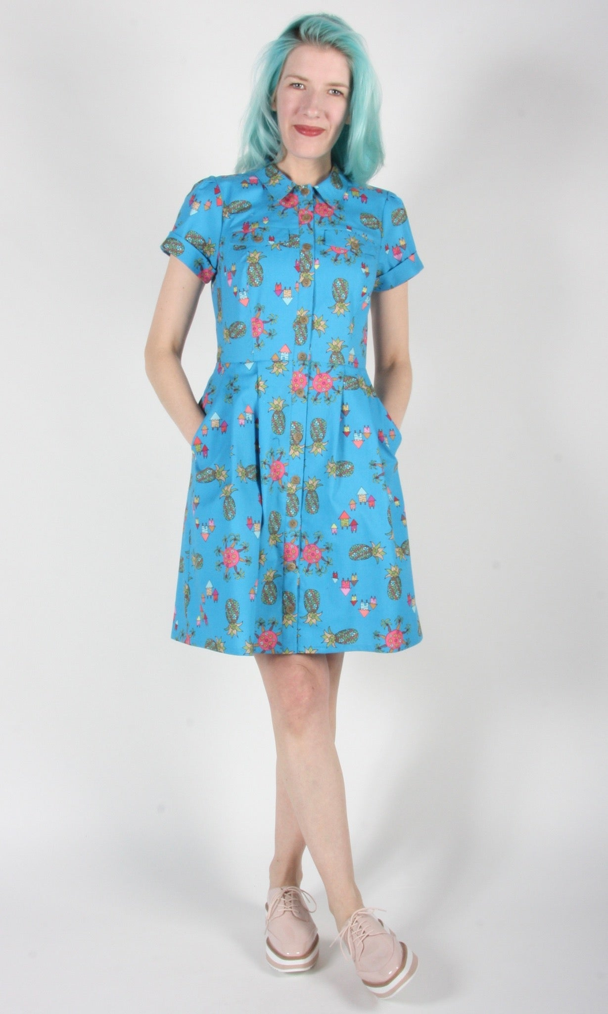 Ptarmigan Dress - Blue Pineapple Party