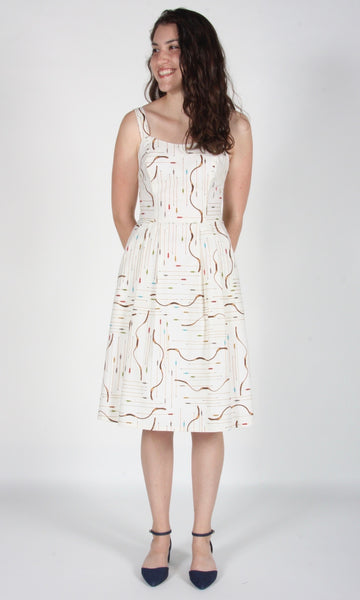 Purpletuft Dress - Ivory Archery