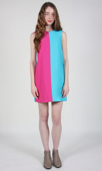 Robin Dress - Pink/Blue