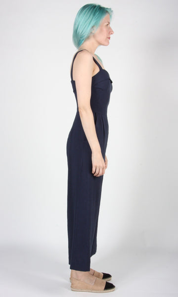 Sandgrouse Jumpsuit - Navy Linen