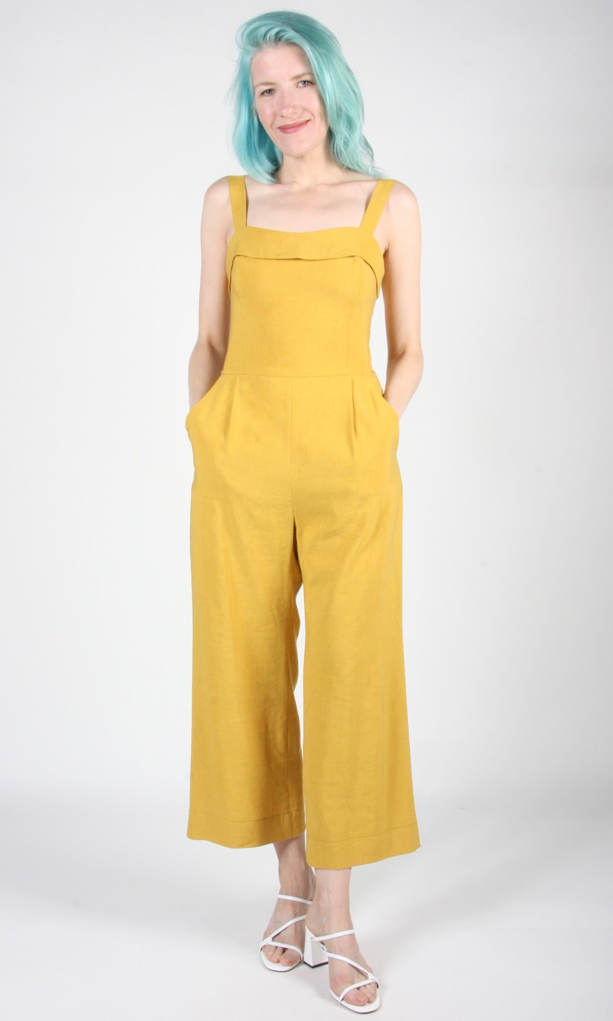 Sandgrouse Jumpsuit - Ochre Linen