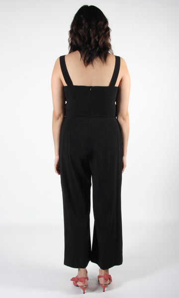 Sandgrouse Jumpsuit - Black Linen