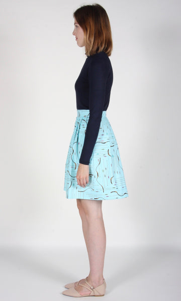 Schiffornis Skirt - Blue Archery
