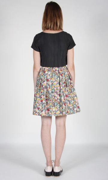 Schiffornis Skirt - Grey London Floral