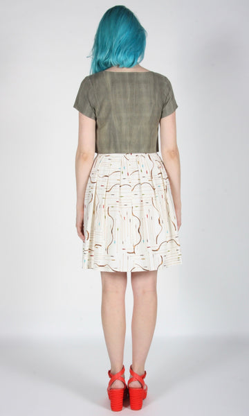 Monklet Top - Sand Washed Olive