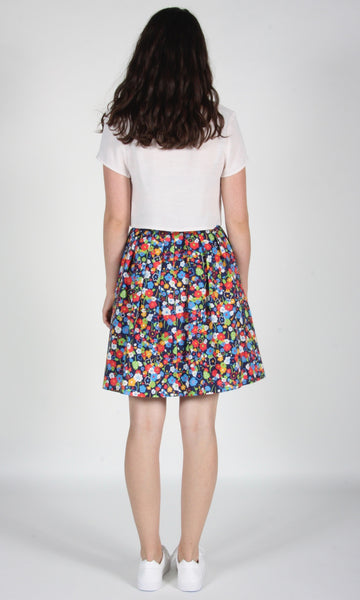 Schiffornis Skirt - Navy London Floral
