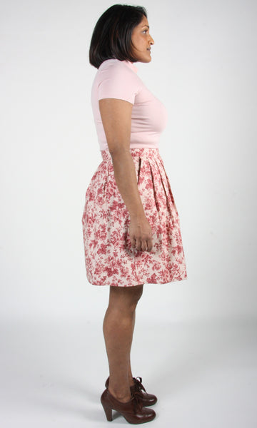 Schiffornis Skirt - Rose Chintz