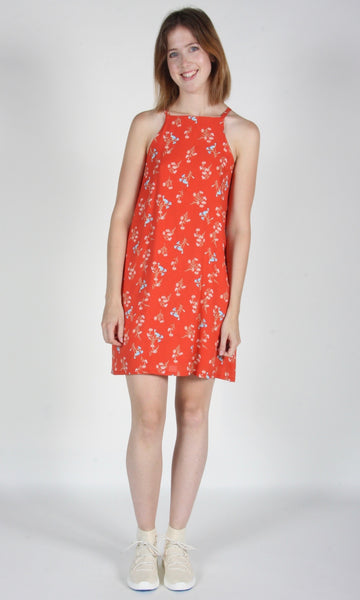 Sicklebill Dress - Vermillion Wildflowers
