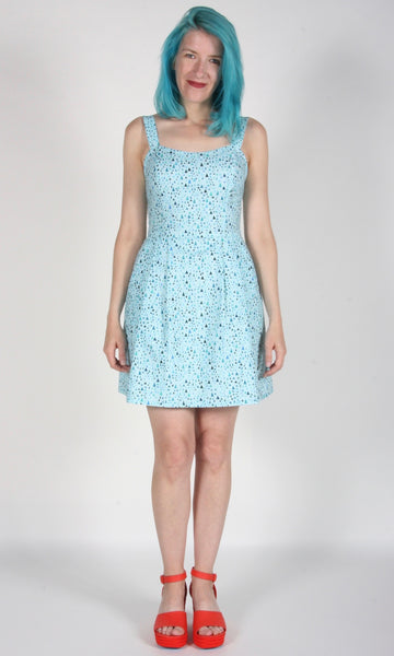 Starfrontlet Dress - Aqua Triangle Confetti