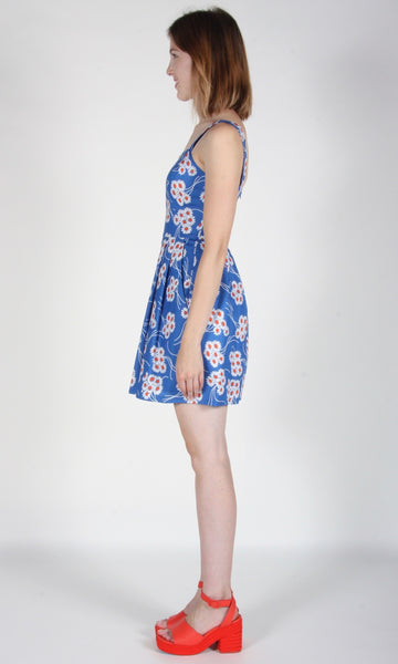 Starfrontlet Dress - Blue Daisies