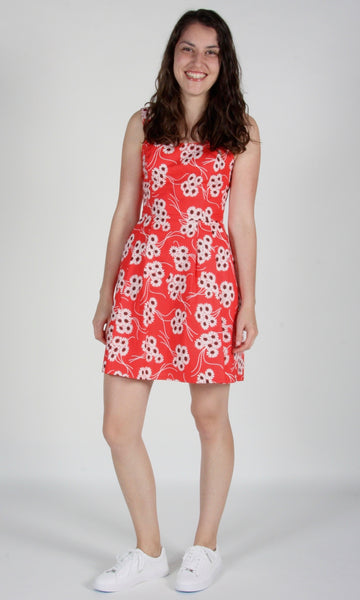 Starfrontlet Dress - Red Daisies