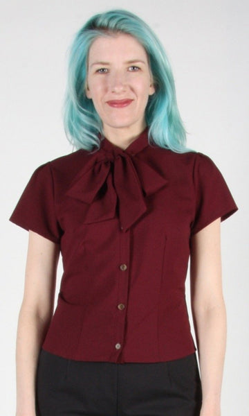 Catbird top - Burgundy
