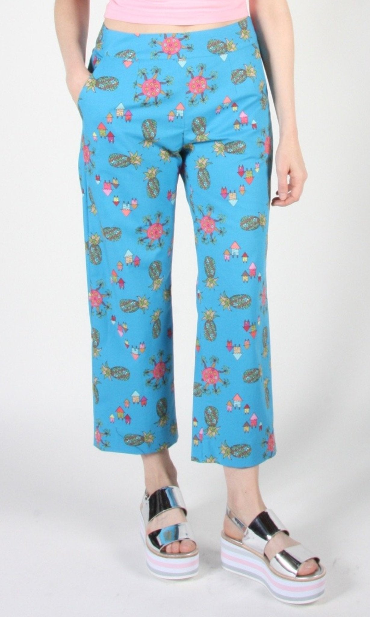 Tiecel Pant - Blue Pineapple Party